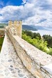 Alte Festungsruinen des Zars Samuel in Ohrid an einem schönen Sommertag, die Republik Mazedonien Stockbild