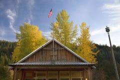 Alte Feuer-Haus-Freiheit Washington Lizenzfreies Stockbild