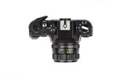Alte Film-Kamera getrennt auf Weiß Stockfoto