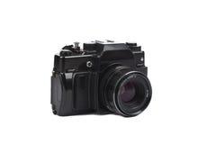 Alte Film-Kamera getrennt auf Weiß Stockbilder