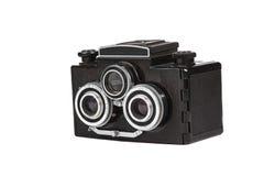 Alte Film-Kamera getrennt auf Weiß Lizenzfreies Stockfoto