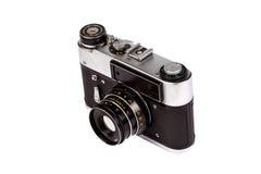 Alte Film-Kamera getrennt auf Weiß Lizenzfreies Stockbild