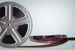Alte Filmbildfilmrolle auf hellblauem Hintergrund Lizenzfreie Stockbilder