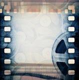 Alte Filmbildfilmrolle mit Band Lizenzfreies Stockfoto