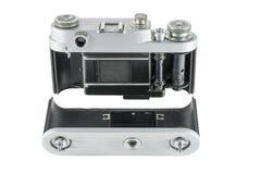 Alte Filmkamera mit entferntem Rückendeckel Stockfoto