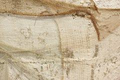 Alte Fisch-Nettohängen und bedecktes rehabilitiertes rustikales konkretes Wal Lizenzfreies Stockbild