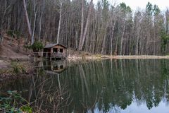 Alte Fischenhütte Lizenzfreie Stockfotografie