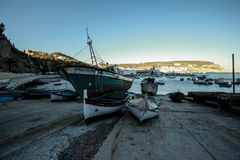 Alte Fischerboote Stockfotografie