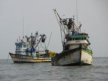 Alte Fischerboote, Peru Stockfotografie