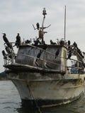 Alte Fischerboote, Peru Lizenzfreies Stockbild