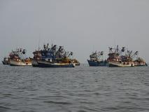 Alte Fischerboote, Peru Lizenzfreie Stockfotos