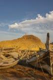 Alte Fischerboote von Oman Lizenzfreie Stockfotos
