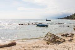 Alte Fischereiausrüstung lizenzfreies stockbild