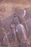 Alte Flachreliefs von Persepolis Stockbild
