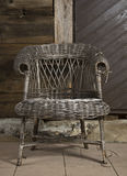 Alte Flechtweide chair1 Stockbild