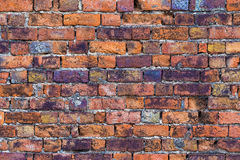 Alte Fleckbacksteinmauer-Hintergrundbeschaffenheit Lizenzfreies Stockfoto