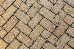 Alte Fliesen am Bürgersteig Stockfoto