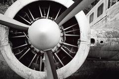 Alte Flugzeug Maschine und perpeller Lizenzfreie Stockfotografie