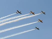 Alte Flugzeuge Stockbild
