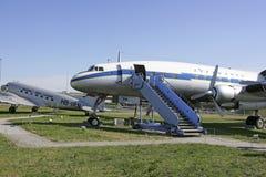 Alte Flugzeuge im Besucher parken an München-Flughafen Lizenzfreies Stockbild