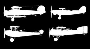 Alte Flugzeuge: Vektor lizenzfreie abbildung