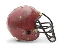 Alte Football-Helm-Seite Stockfotos