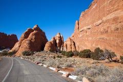 Alte formazioni dell'arenaria del deserto fotografie stock
