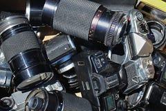 Alte Fotoausrüstung Lizenzfreies Stockbild