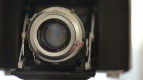 Alte Fotokamera stock footage