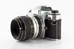 Alte Fotokamera getrennt auf weißem Hintergrund Lizenzfreies Stockfoto