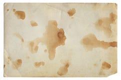 Alte Fotopapierbeschaffenheit mit Flecken und Kratzern Stockfotografie
