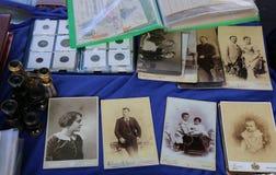 Alte Fotos und Gegenstände Lizenzfreie Stockfotografie