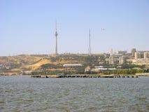Alte Fotos von Baku-Stadt Lizenzfreies Stockbild