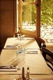 Alte Frankreich-Gaststätte Stockfotos
