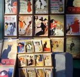 Alte französische Werbung fügt hinzu Stockbilder
