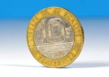 Alte Franzosen zehn Franken Stockfotos