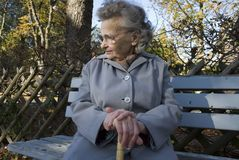 Alte Frau Stockfoto