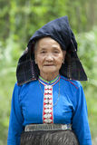 Alte Frau Asien im nationalen Kostüm, Laos Stockfotos