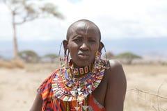 Alte Frau des Masais lizenzfreies stockbild