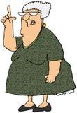 Alte Frau, die oben zeigt vektor abbildung