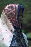Alte Frau Indien des Porträts stockbild