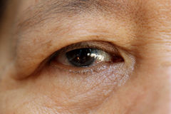 Alte Frauen-Auge Stockbild