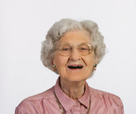 Alte Frauen-Lächeln Stockfoto