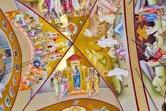 Alte Freskos auf der Decken-Haube in der Kirche in Israel Lizenzfreie Stockfotos
