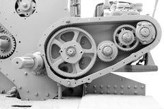 Alte Gänge, altes Metall der Maschinerieteile Stockbild