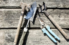 Alte Garten-Hilfsmittel Lizenzfreies Stockfoto