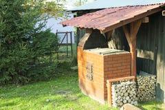 Alte Gartenheizung Grill Verwendbar Für Bbq Stockfoto Bild Von