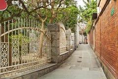 Alte Gasse in Xiamen, China Lizenzfreie Stockbilder