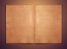 Alte geöffnete Seite des unbelegten Papiers stock abbildung