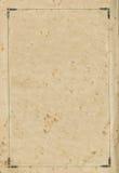 Alte gealterte grungy Buchpapierblatt-Seitenvignette, lokalisierter Rahmenhintergrund-Kopienraum Lizenzfreie Stockbilder
